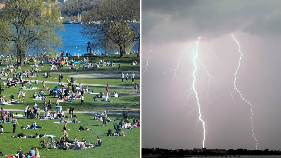 Värmeböljan fortsätter på Kristi himmelfärdsdag med vackert väder och högsommartemperaturer