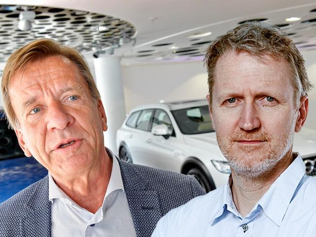 Expressens Jan-Erik Berggren (till höger i bild) tycker inte att Volvo ska behöva försvara sitt beslut.