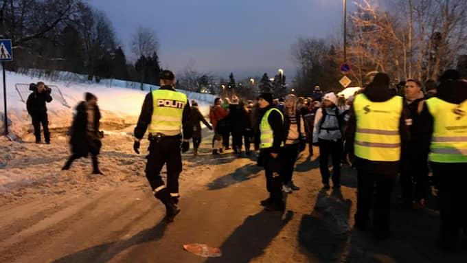 Kaos utbröt efter lördagens femmil i Holmenkollen. Foto: ANNA FRIBERG