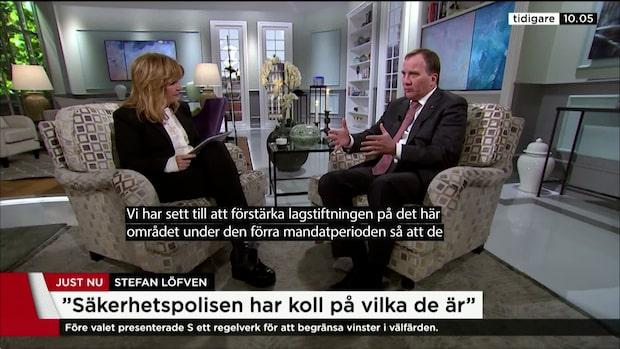 """Stefan Löfven (S): """"Den som har begått brott ska dömas"""""""