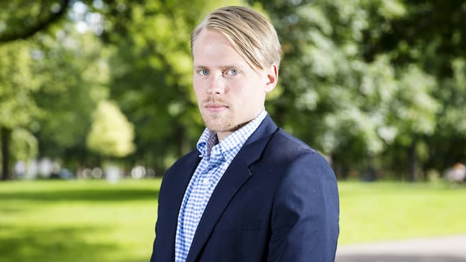 GT:s hockeyreporter Oskar Lindwall. Foto: HENRIK JANSSON