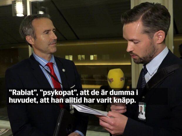 """SD-riksdagsledamoten om kollegan: """"Psykopat"""""""