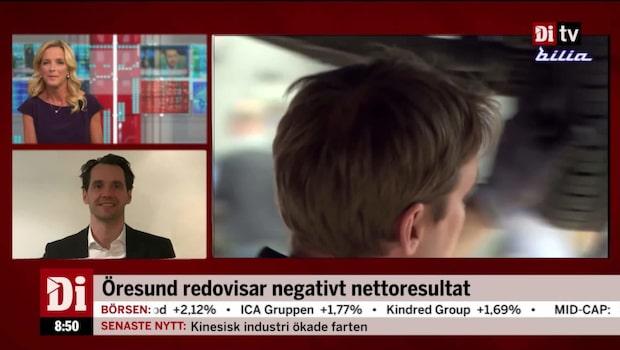 Öresunds vd, Gustav Lindner, om negativa nettoresultatet