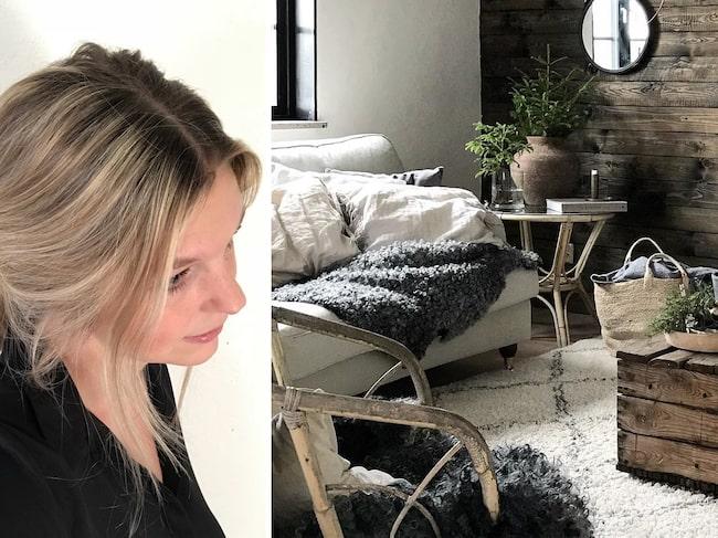 Karin Nilsson bor i ett lantligt hem på Gotland.