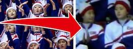 Nordkoreas cheerleader blir tillsagd efter gesten