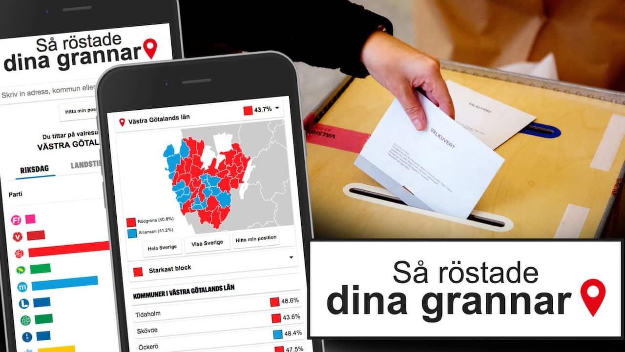 Karta Over Postnummer Sverige.Valresultat 2018 Sa Rostade Dina Grannar I Valet 2018