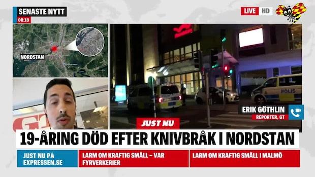 19-årig man död efter knivbråk vid Nordstan