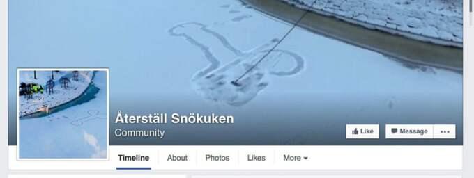 """Facebooksidan """"Rädda snökuken"""" gillas av över 1 500 personer."""