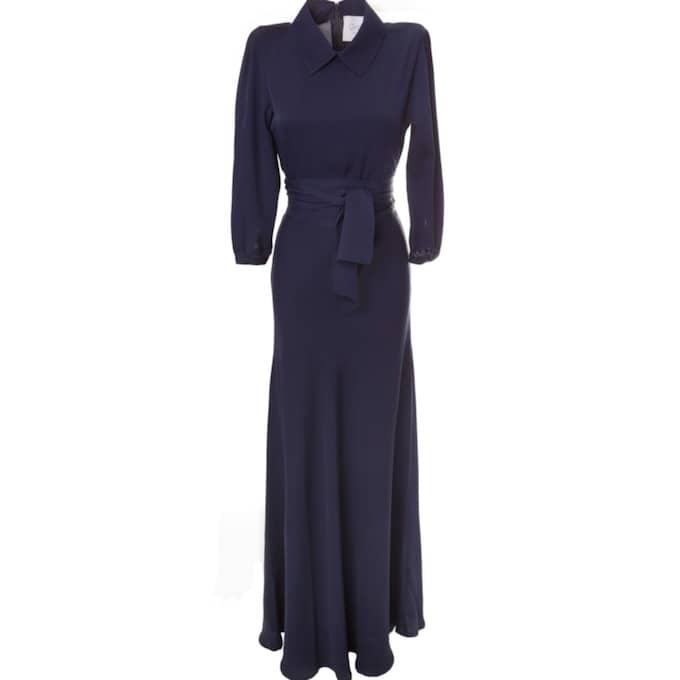 Klänningen kommer från det svenska märket Greta, som tidigare klätt kronprinsessan Victoria och flera andra kändisar. Foto: Greta