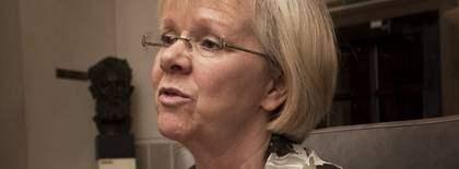 """GJORDE FEL. """"Här vet jag att om ursäkt för det"""", säger LO-ordförande Wanja Lundby-Wedin och backar efter Expressens avslöjanden om vistelsen på lyxhotellet i Italien. Foto: Roger Schederin"""