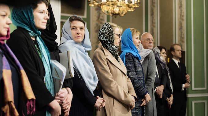Svenska delegationen vid besöket i Iran. Foto: Anna-Karin Nilsson