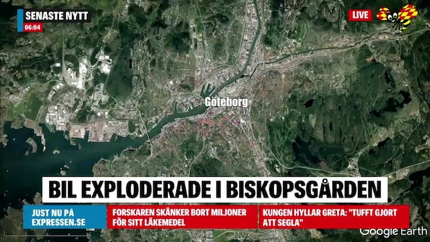 Bil exploderade i Biskopsgården