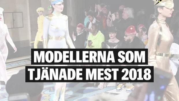 Modellerna som tjänade mest 2018