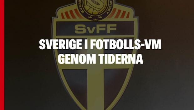 Sverige i fotbolls-vm genom tiderna