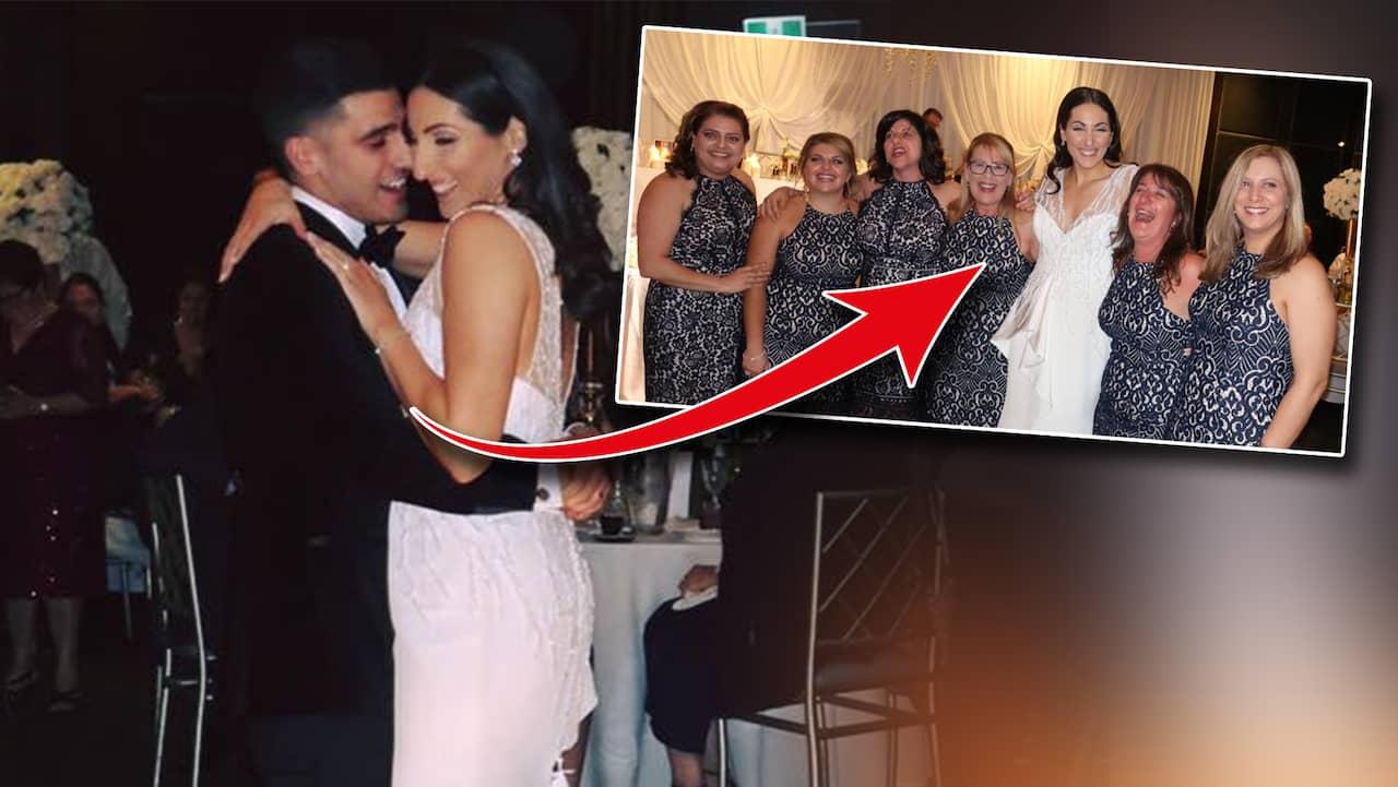 7ecc31f138f0 6 gäster hade likadana klänningar på Julia Mammones bröllop