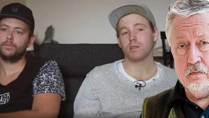 """SVT:s """"Dokument inifrån"""" har träffat de två bröderna soom i dag är vuxna. Foto: SVT"""