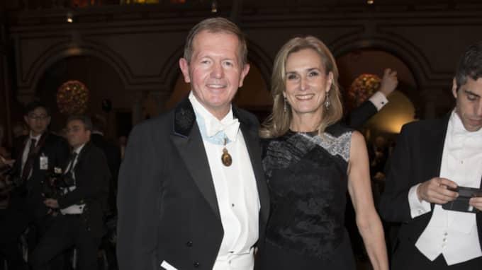 """Marcus Wallenberg, kallad """"Husky"""" med hustrun Fanny Sachs vid galan efter Nobelprisutdelningen 2015. Foto: David Sica / STELLA PICTURES DAVID SICA"""