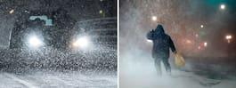 Snöstorm på ingång – SMHI orkanvarnar
