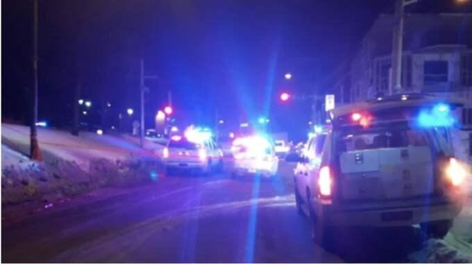 Sex personer dödades och åtta skadades i vad som verkar vara en koordinerad attack i en moské i Quebec City under söndagskvällen. Foto: Radio Canada
