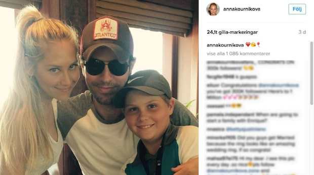 Enrique Iglesias och Anna Kournikovas sällsynta selfie