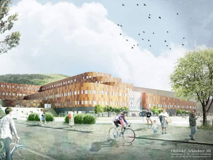 KLAR I SOMMAR. Snart står Göteborgs Nya Arena klar. Med den hoppas byggherren Ola Serneke att Göteborg kan få fram en egen skidstjärna. Foto: SERNEKE BYGG
