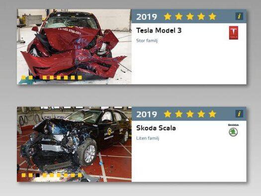Högsta betyg för samtliga bilar som testades i Euro NCAP:s fjärde omgång för året.