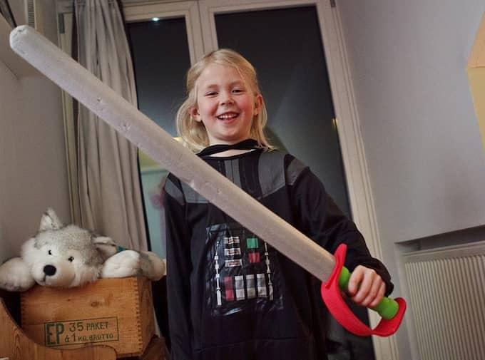 Ellen Bryttmar som Darth Vader. Foto: Erika Berglund