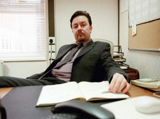 "Ricky Gervais som David Brent i ""The Office"". Foto: Adrian Rogers"