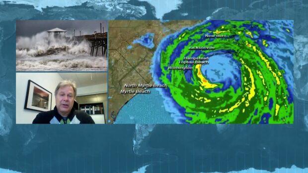 """Meteorologen om orkanen Florence: """"Omfattande oväder"""""""
