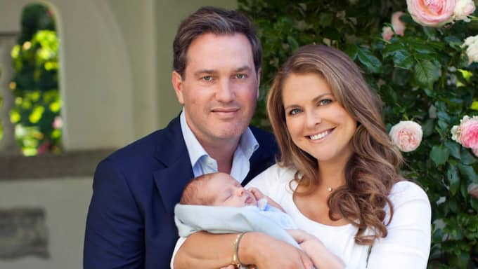 Chris O'Neill och prinsessan Madeleine har valt Carl Philip som gudfar till Nicolas. Foto: Birgitte Grenfeldt/Kungahuset.Se