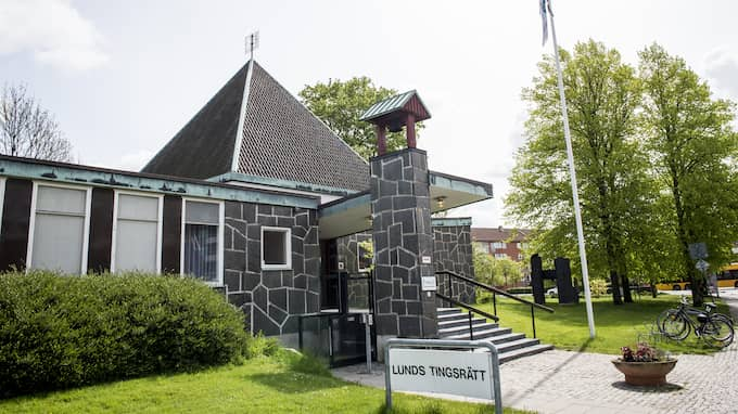 Mannen häktades idag vid Lunds tingsrätt. Foto: TOMAS LEPRINCE