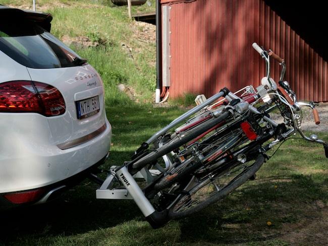 transportera cykel med bil
