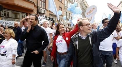 Beatrice Ask, Anders Borg, Filippa Reinfeldt och Tobias Billström. Foto: Fredrik Persson / Scanpix