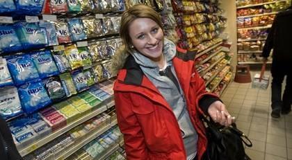 Veronica Kapica, 18, från Sundsvall har satt upp målet att inte godis nästa år.