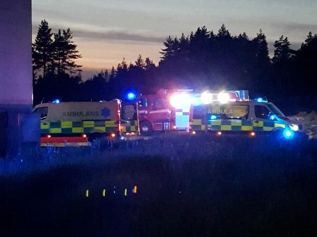 Loftgång har rasat - fyra till sjukhus