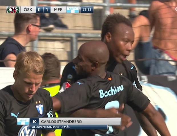 Carlos Strandberg ger ledningen till Malmö FF