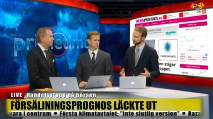 Expressen TV sänder live med anledning av turbulensen