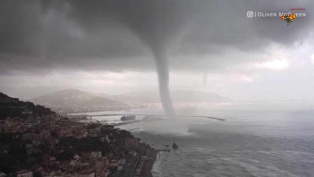 Ovanliga väderfenomenet fångat på film
