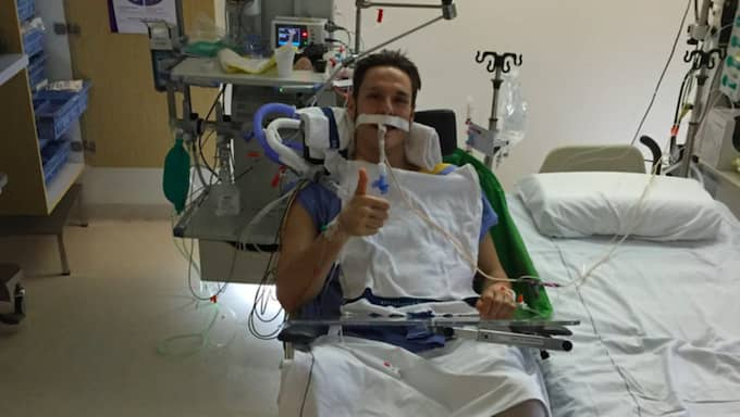 Efter en fallolycka i Amsterdam blev Kristoffer Ramström förlamad. Nu är han tillbaka i Sverige igen. Foto: Privat