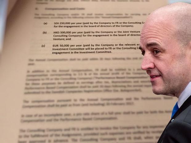 Dokument avslöjar: Reinfeldt tjänade miljoner på affärer med Kina