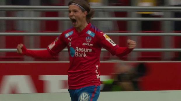 Max Svensson sätter 1-0 för Helsingborg