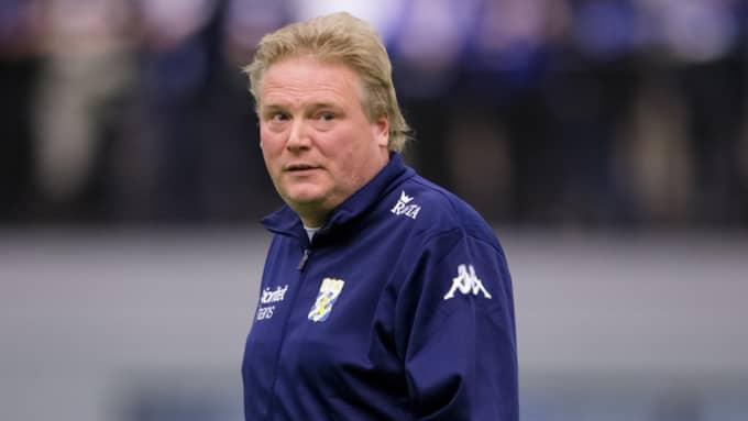 Blåvitts tränare Jörgen Lennartsson. Foto: Michael Erichsen