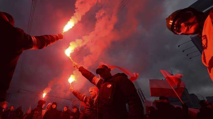 Flera av deltagarna kom från Sverige, enligt The Independent. Foto: CZAREK SOKOLOWSKI / AP TT NYHETSBYRÅN