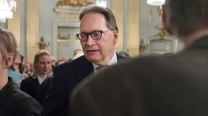 Horace Engdahl menar i en intervju med Louise i Sveriges Radio att Svenska Akademien borde hanterat avslöjandet om Kulturprofilen annorlunda i november. Foto: STINA STJERNKVIST/TT / TT NYHETSBYRÅN