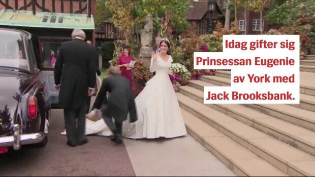 Blåsten ställer till det för gästerna på kungliga bröllopet