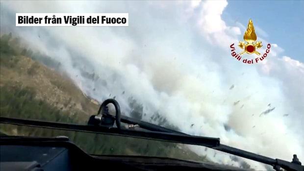 Italienska brandförsvarets egna bilder – från luften