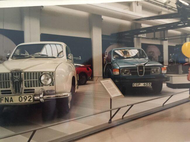 De två Saabexemplaren som den svenske miljardären Svante Andersson köpte.