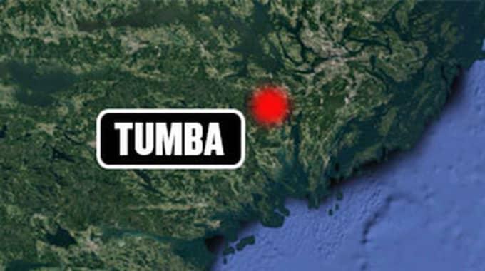 Händelsen ska ha skett i Tumba i Södra Stockholm.