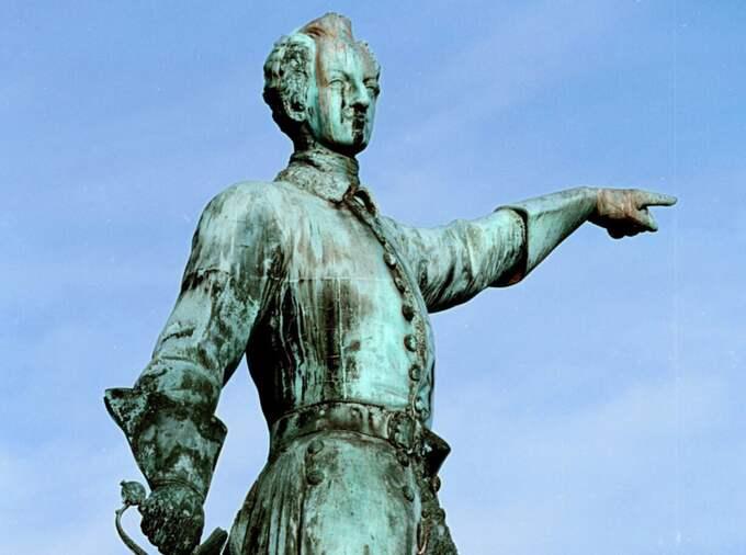 Karl XII staty i Kungsträdgården i Stockholm. Foto: Fredrik Funck / DN