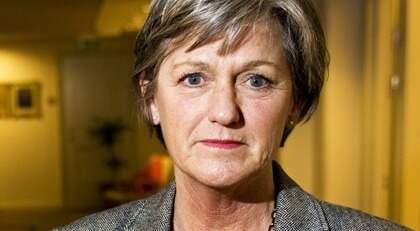 Socialförsäkringsminister Cristina Husmark Pehrsson avfärdar de rödgrönas förslag om sjukförsäkringen. Foto: Christine Olsson / Scanpix